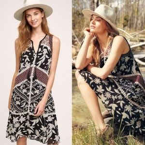 Anthro Floreat 'Grasslands' Midi Sleeveless Dress